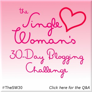 single woman blog challenge