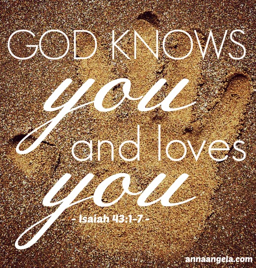 God doesn't wonder about you because He knows you and loves you.
