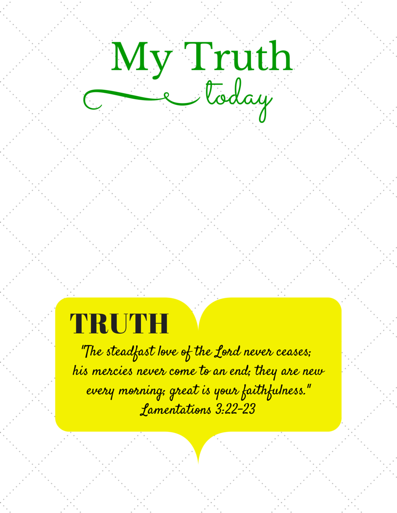 My Truth Printable