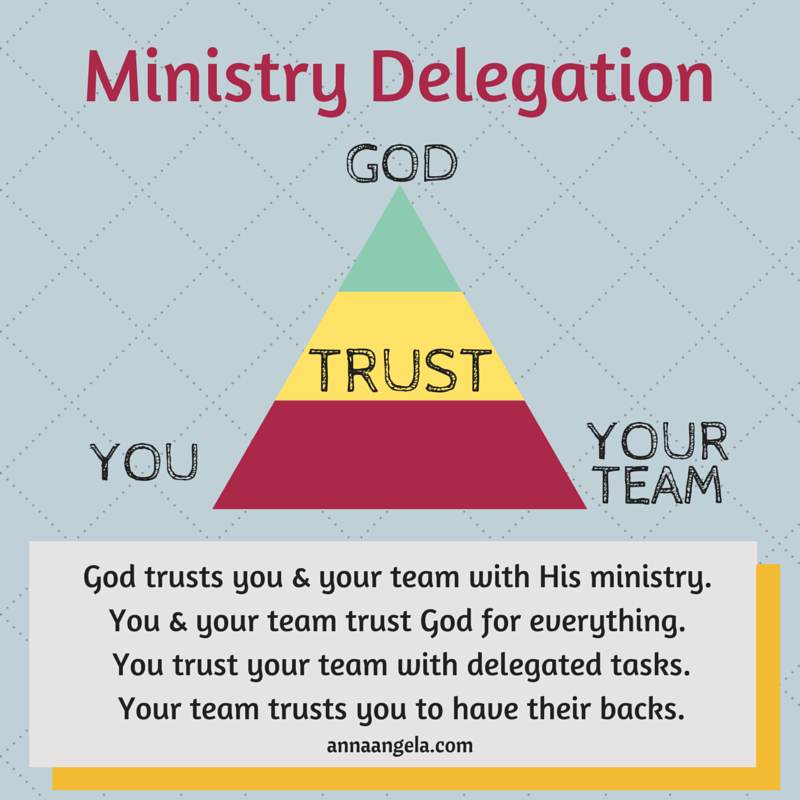 Delegate and trust in the ministry